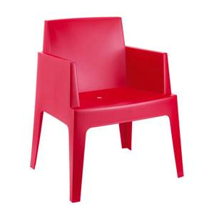 Chaise de jardin rouge Box