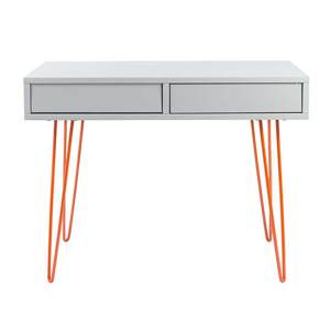 bureau orange et gris