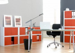 mobilier bureau orange
