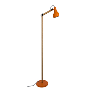 Lampadaire orange design